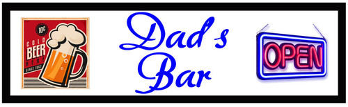 Personalised Bar Mat - Long