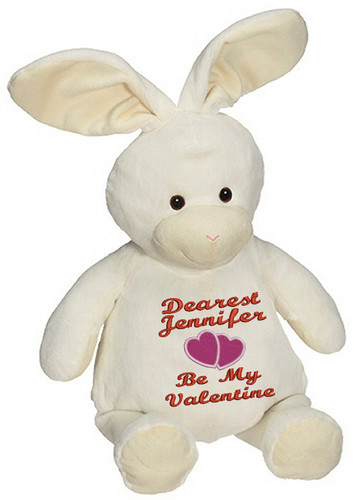Personalised Message Bear - Bunny Rabbit Embroider Buddy