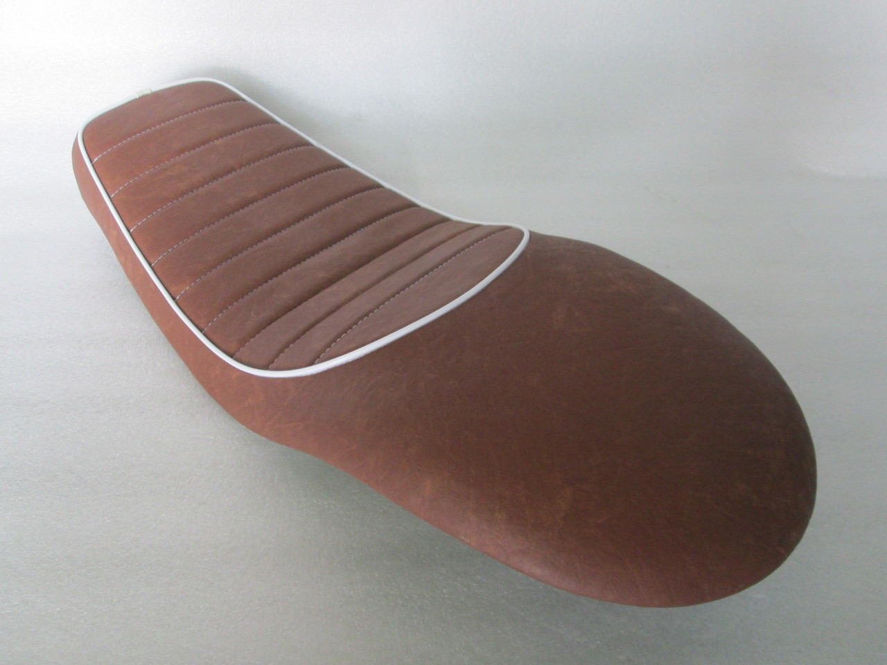 Honda CX500 Custom Cafe Racer Complete Motorcycle Seat with modified seat pan.  Super flat and shorter pan. #4154