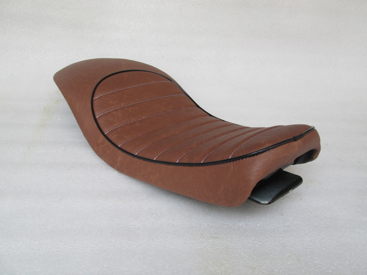 Honda CX500 Custom Cafe Racer Complete Motorcycle Seat with modified seat pan.  Super flat and shorter pan. #4185