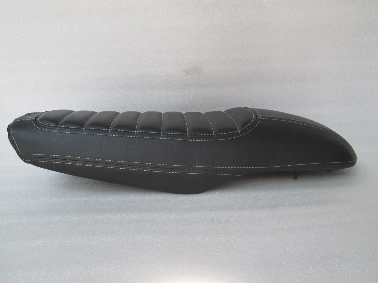 1978 - 1981 Honda CX500 Deluxe Standard or CX400 Classic Cafe Racer Seat with modified seat pan *black with grey stitching*  #4203