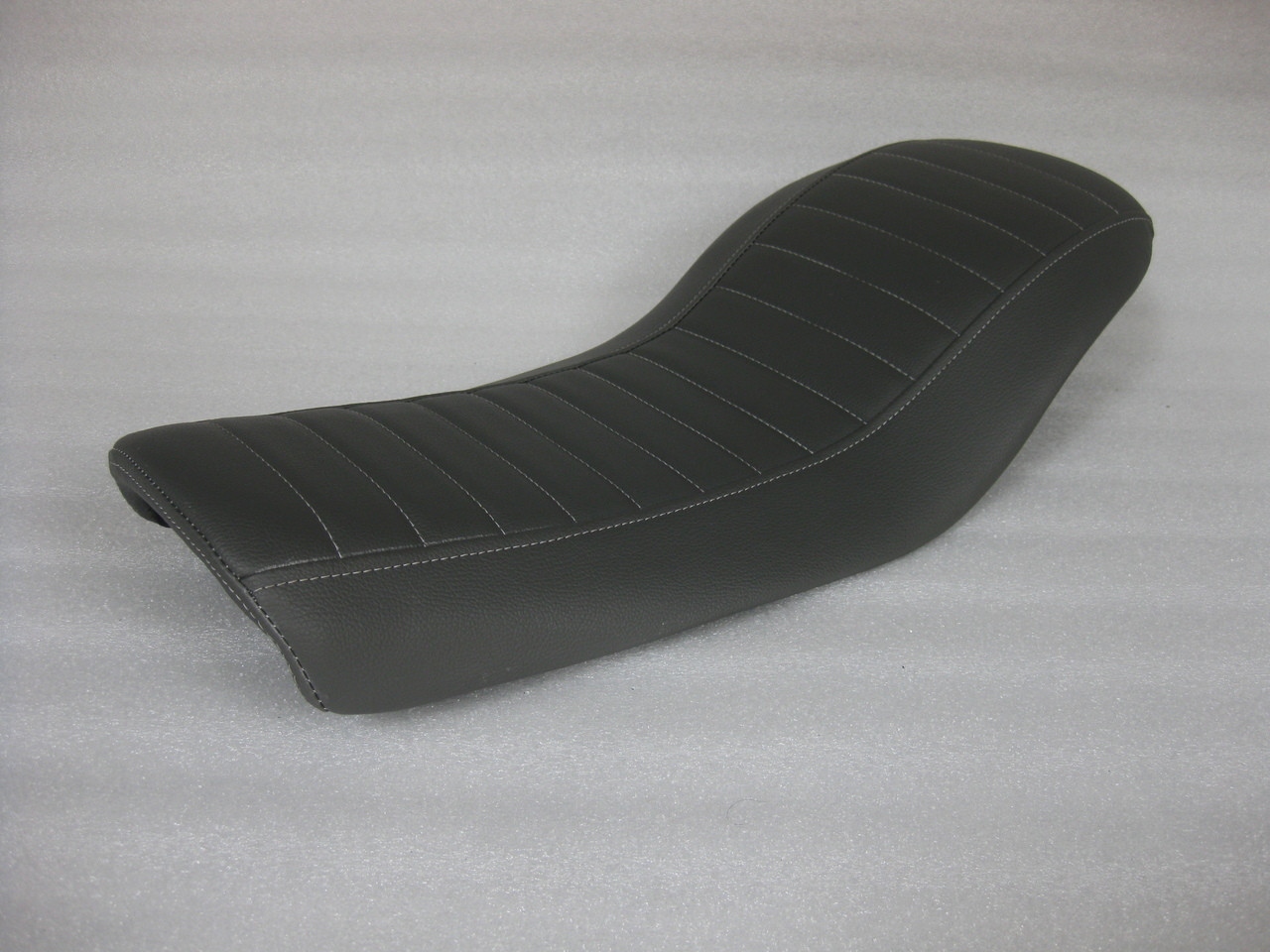 Honda CX500 Custom Cafe Racer Complete Motorcycle Seat with modified seat pan.  Super flat and shorter pan. #4274