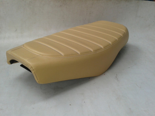 1979 - 1982 Honda CX500 Custom cafe racer complete seat with metal seat pan - Tan #4082