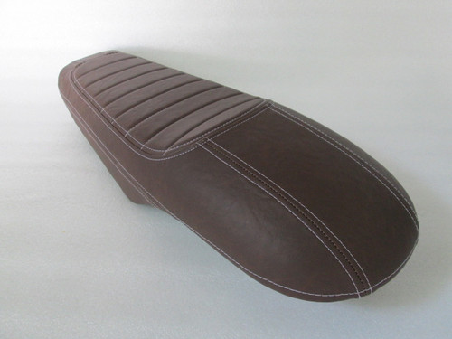 1979 - 1982 Honda CX500 Custom cafe racer complete seat with metal seat pan - Brown #4157
