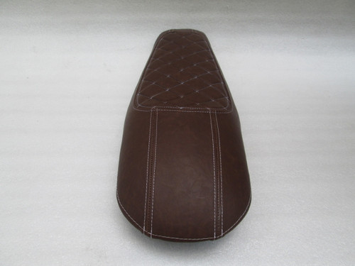 1979 - 1982 Honda CX500 Custom cafe racer complete seat with metal seat pan - Brown #4179