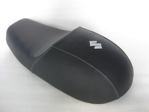 Suzuki T500 cafe racer seat reproduction to NOS pan #4259