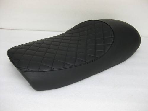 Cafe seat for Triumph Tiger Bonneville 1973 - 1977 metal powder coated seat pan #4323