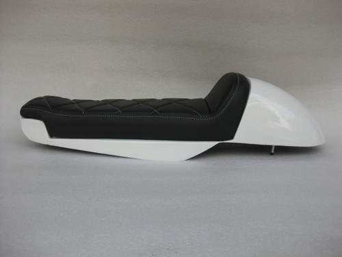 Honda CX500 Deluxe Standard modified seat pan with metal cowl  #4324