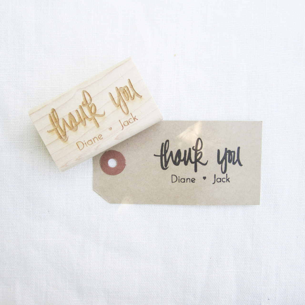 with love, CUSTOMIZED Hand Lettered Rubber Stamp A gift for you..