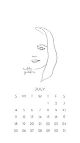 July 2021 Wallpapers by Paper Sushi