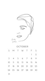 October 2021 Phone Wallpapers by Paper Sushi