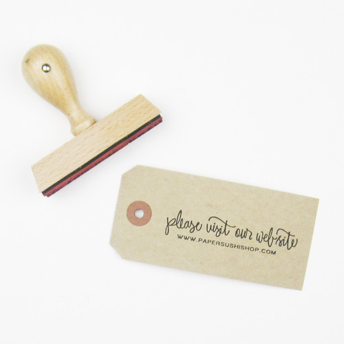 Please visit our wedding website stamp by Paper Sushi