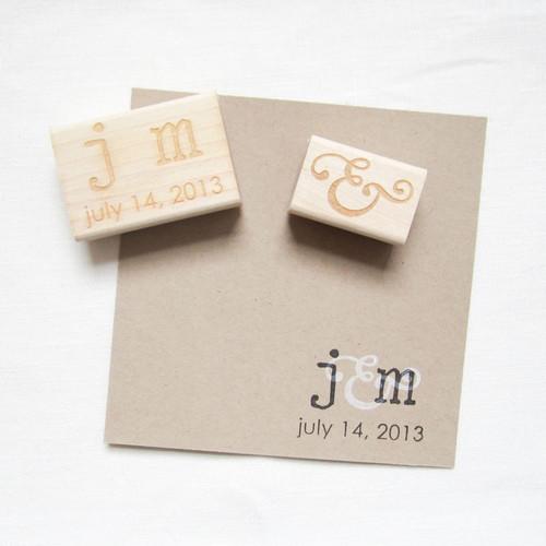 Monogram Stamp Set by Paper Sushi