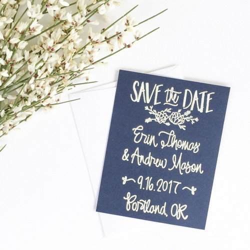 Succulent Save the Date by Paper Sushi