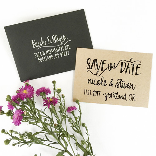 Save the Date stamp by Paper Sushi