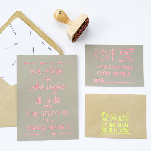 Wedding Invitation Stamp Suite - Arrows