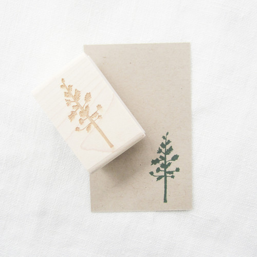 Pine tree stamp by Paper Sushi