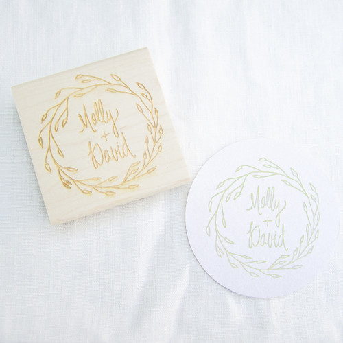 Wedding favor stamp by Paper Sushi