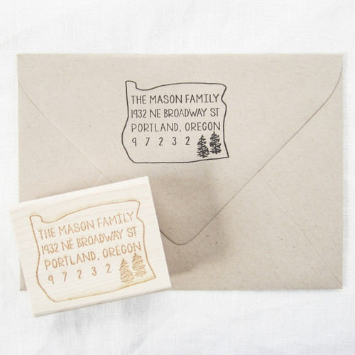 State address stamp by Paper Sushi