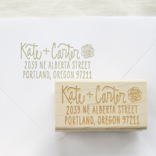 Address stamp by Paper Sushi