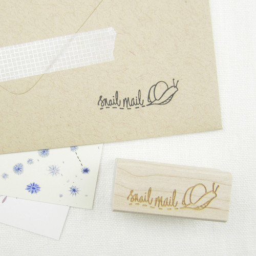 Snail Mail stamp by Paper Sushi