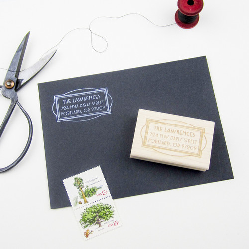 Art Deco Address Stamp by Paper Sushi