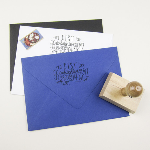Triangle address stamp by Paper Sushi