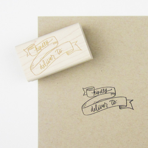 Kindly deliver to banner stamp by Paper Sushi