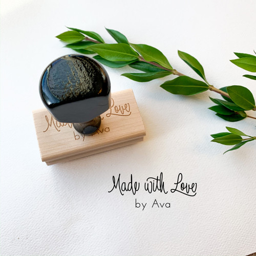 Made With Love rubber stamp by Paper Sushi