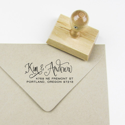 Calligraphy address stamp by Paper Sushi