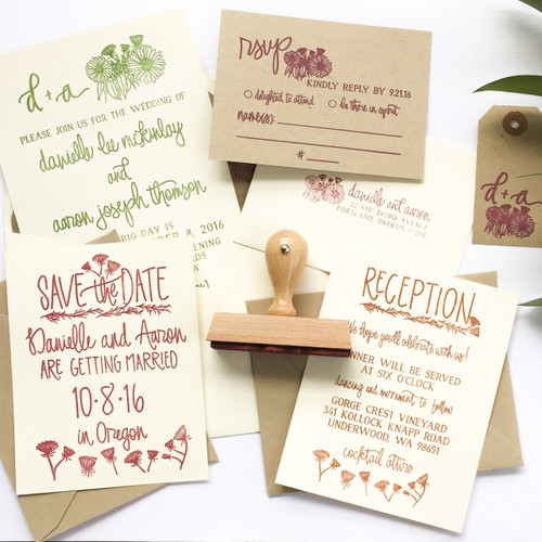 Wildflower Invitation Stamp Suite by Paper Sushi