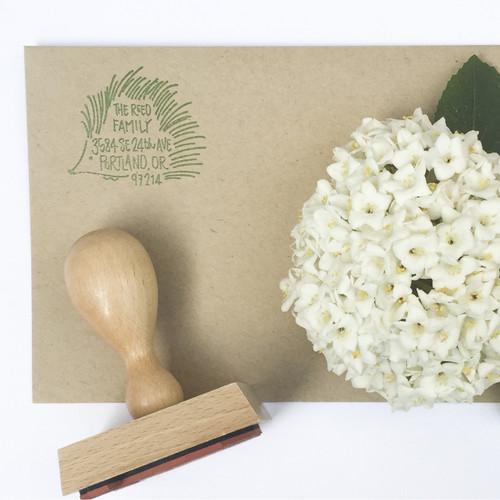 Hedgehog address stamp by Paper Sushi