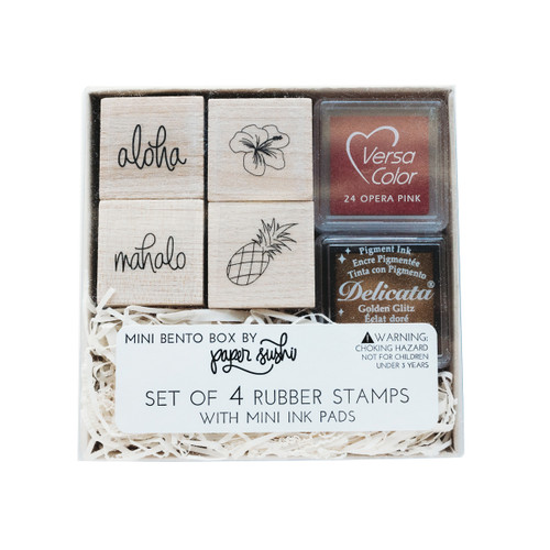Mini Hawaii stamp set by Paper Sushi