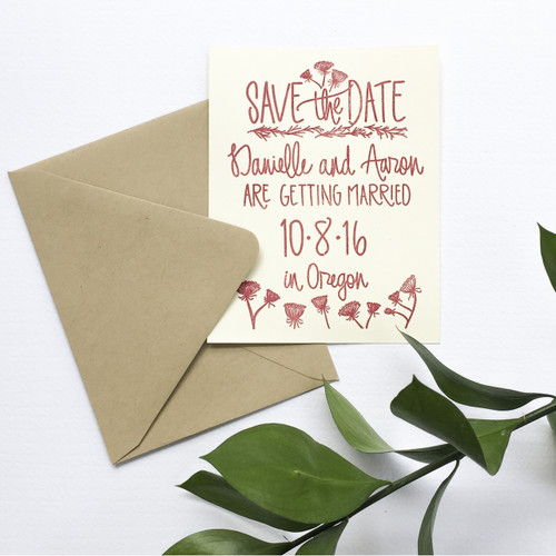 Wildflower Save the Date by Paper Sushi
