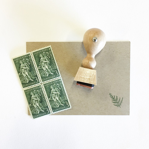 Fern mini rubber stamp by Paper Sushi