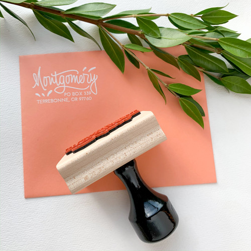 A hand lettered address stamp is a must for wedding invitations and lovely on correspondence of all kinds!