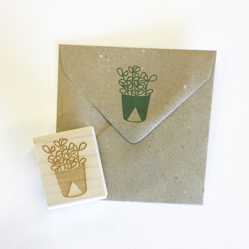 Jade plant stamp by Paper Sushi #succulent