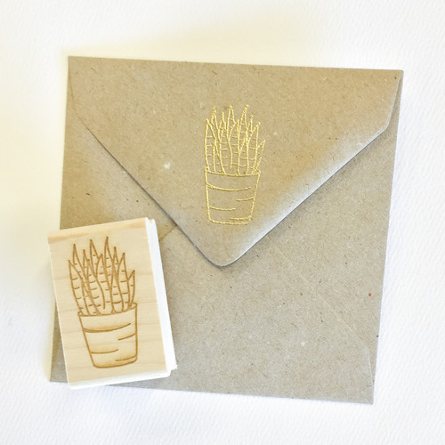 Succulent stamp by Paper Sushi