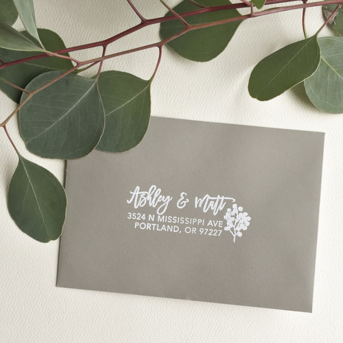 Eucalyptus address stamp by Paper Sushi
