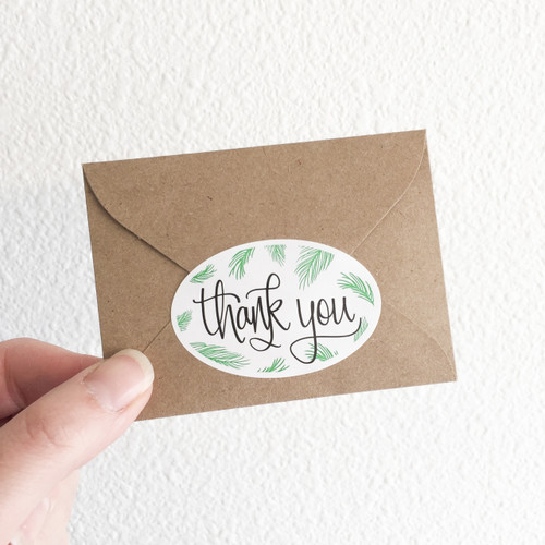 Fern Thank You Stickers