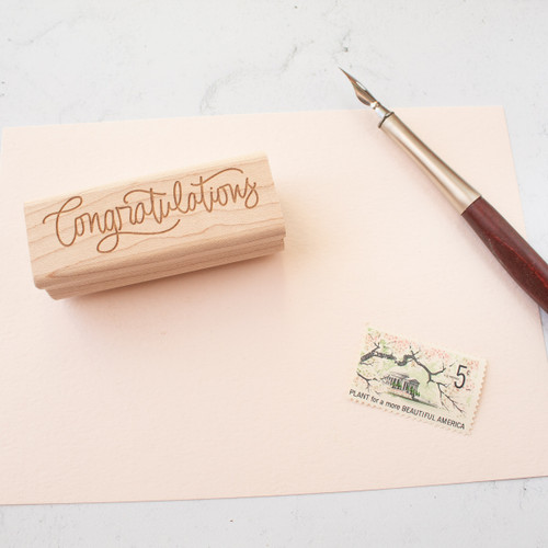 Congratulations rubber stamp by Paper Sushi