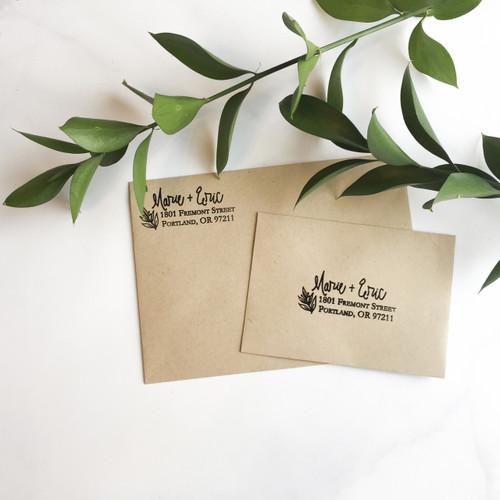 Winter Leaf address stamp by Paper Sushi