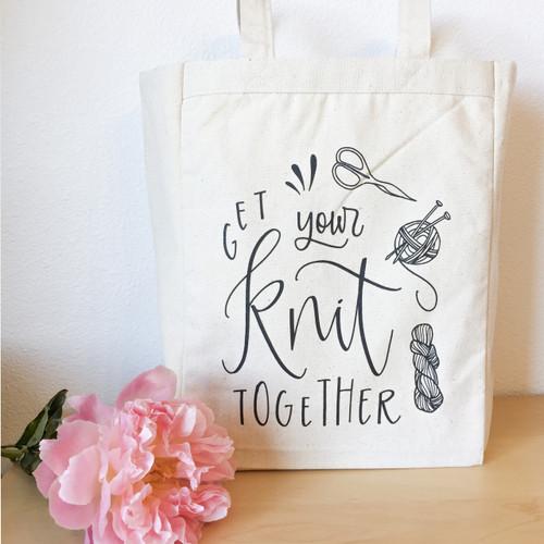 Tote bag - get your knit together
