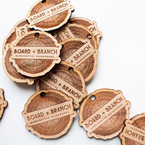 Custom Wood Tags - Set of 20