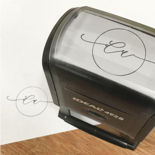 Self inking logo stamp by Paper Sushi