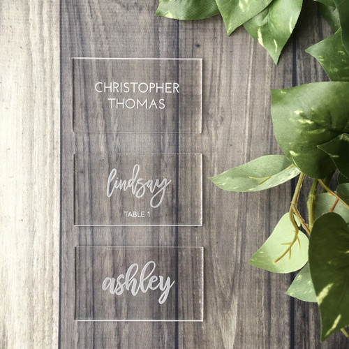 Acrylic Place Cards - Set of 10