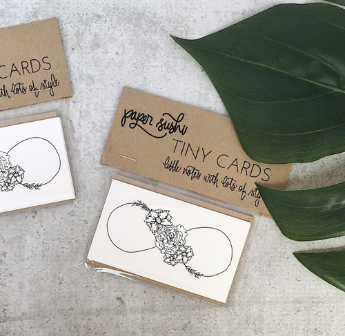 Tiny Card - Floral Infinity