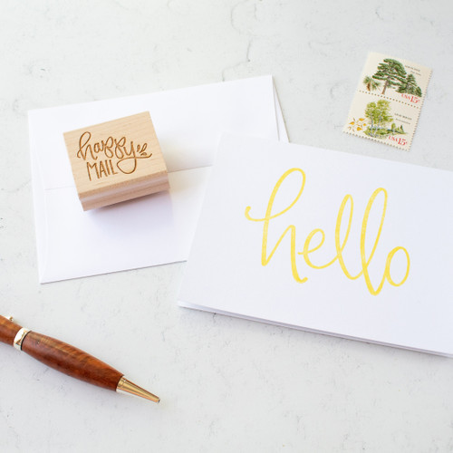 Happy mail stamp by Paper Sushi