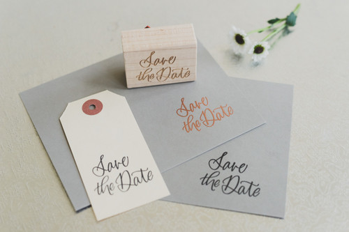 Save the Date stamp by Paper Sushi #savethedate #calligraphystamp