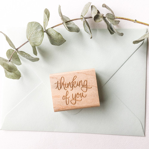 Thinking of you rubber stamp by Paper Sushi #stamp